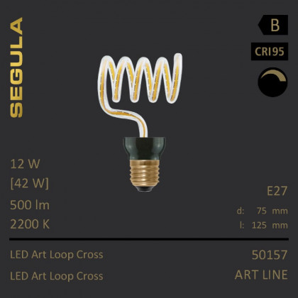 Segula Art Line LED Art Loop Cross