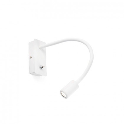 White wall lamp reader