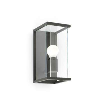 Lantern look outdoor wall lamp