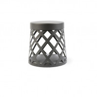 Dark grey circular beacon lamp - outdoor