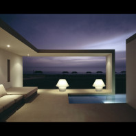 Luminous outdoor lamp