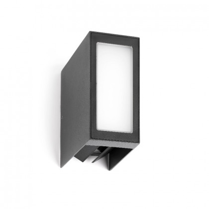 Outdoor wall lamp with directable wings