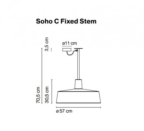 Marset Soho C Fixed Stem Outdoor Lamp