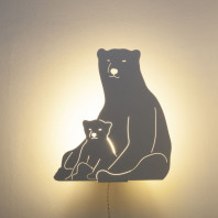Goodnight Light Decoupage Lamp Polar Bears