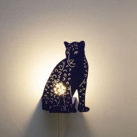 Goodnight Light Decoupage Lamp Leopard