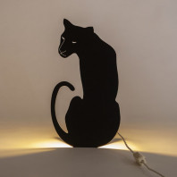 Goodnight Light Decoupage Lamp Panther