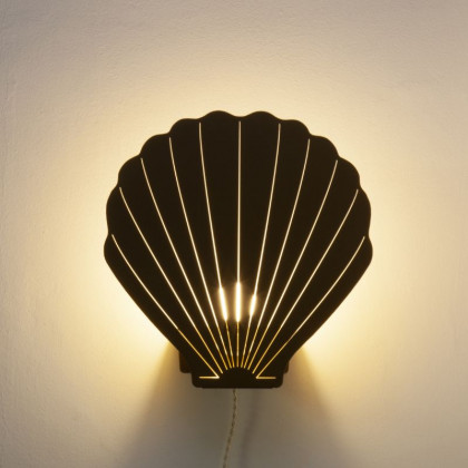 Goodnight Light Decoupage Lamp Sea Shell