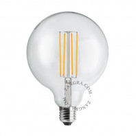 Zangra LED Filament Bulb Globe Transparent 5W