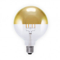 Segula LED Globe 125 MIRROR HEADED Gold 8W