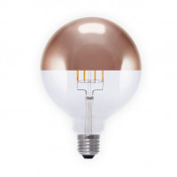Segula LED Globe 125 MIRROR HEADED COPPER 6W